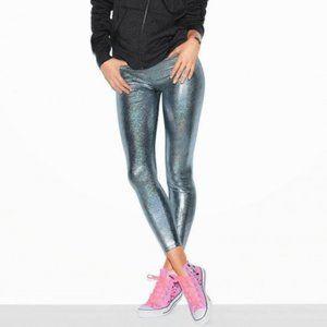 pink victoria's secret ∙ metallic leggings